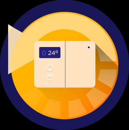 Thermostats électroniques:<br> Un plus grand confort <br>au moment opportun!